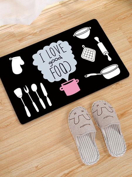 Cutlery Print Floor Mat