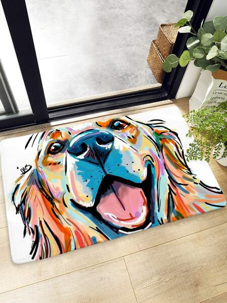 Dog Print Floor Mat