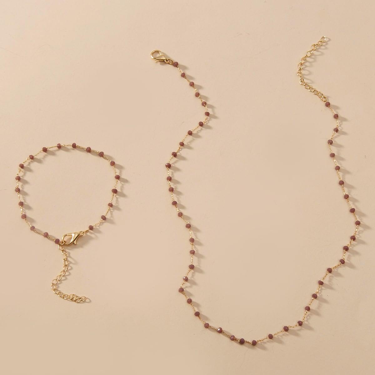 2шт ожерелье и браслет фото