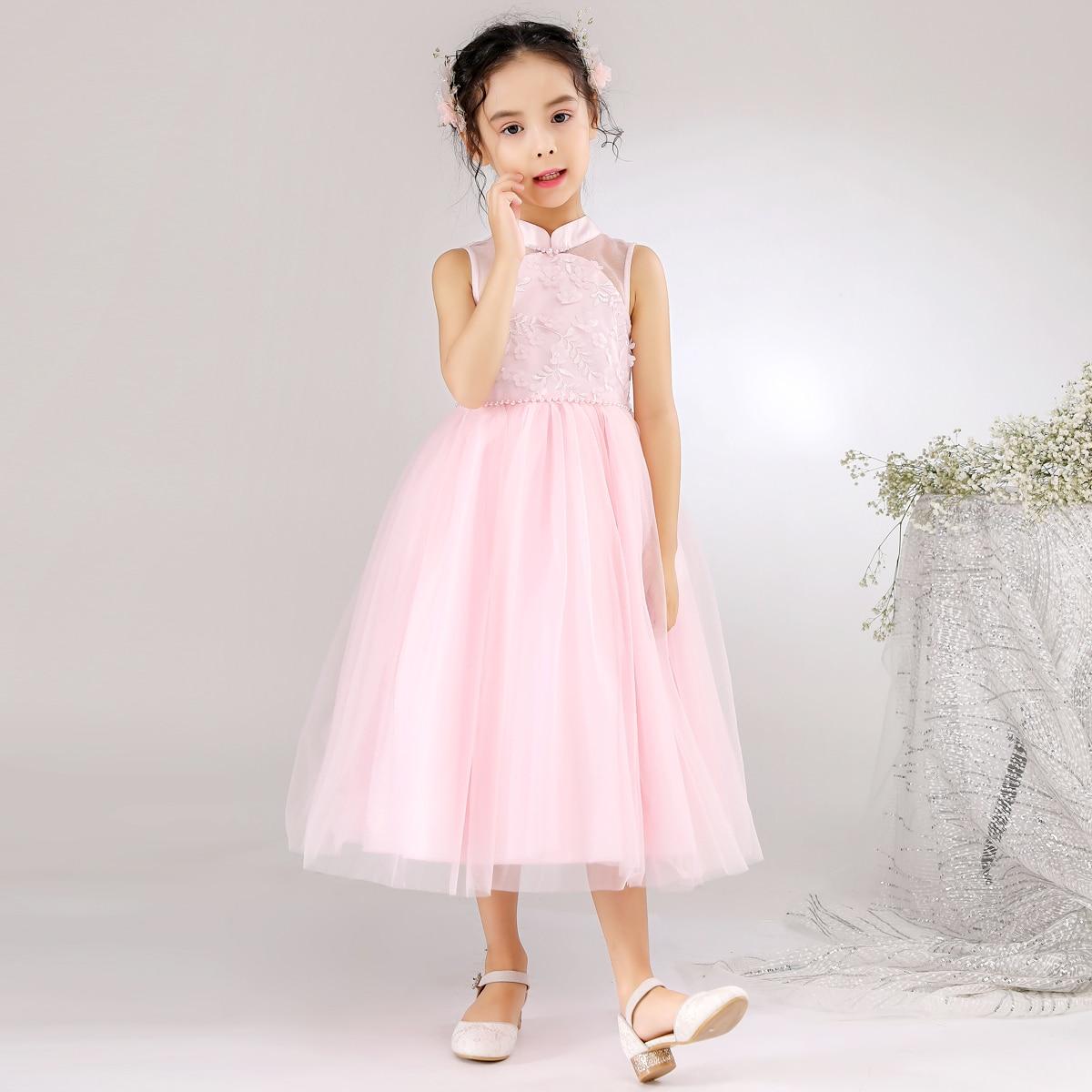 SHEIN / Vestido de fiesta con malla con cuenta con perla aplique