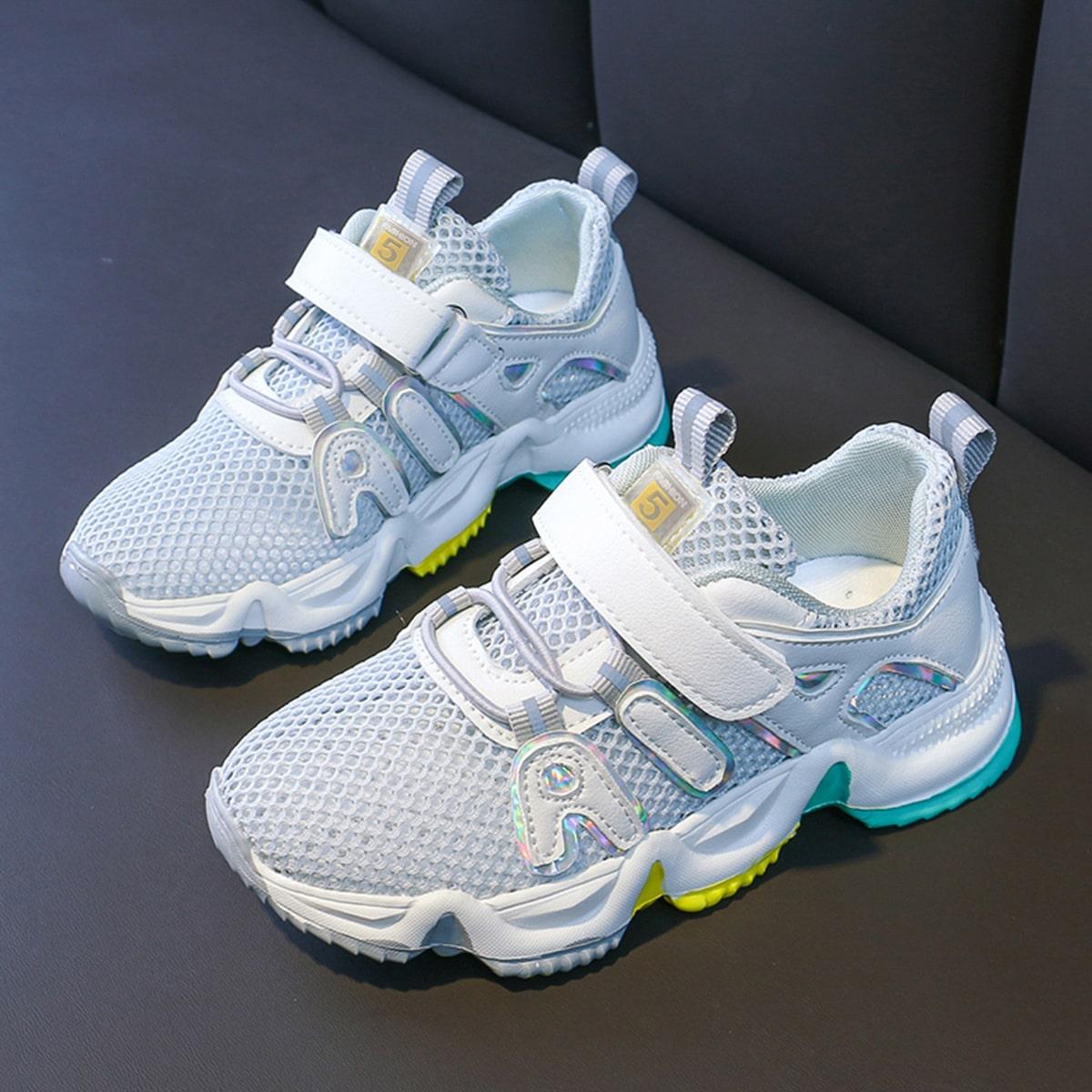 Нескользящие сетчатые кроссовки для мальчиков от SHEIN