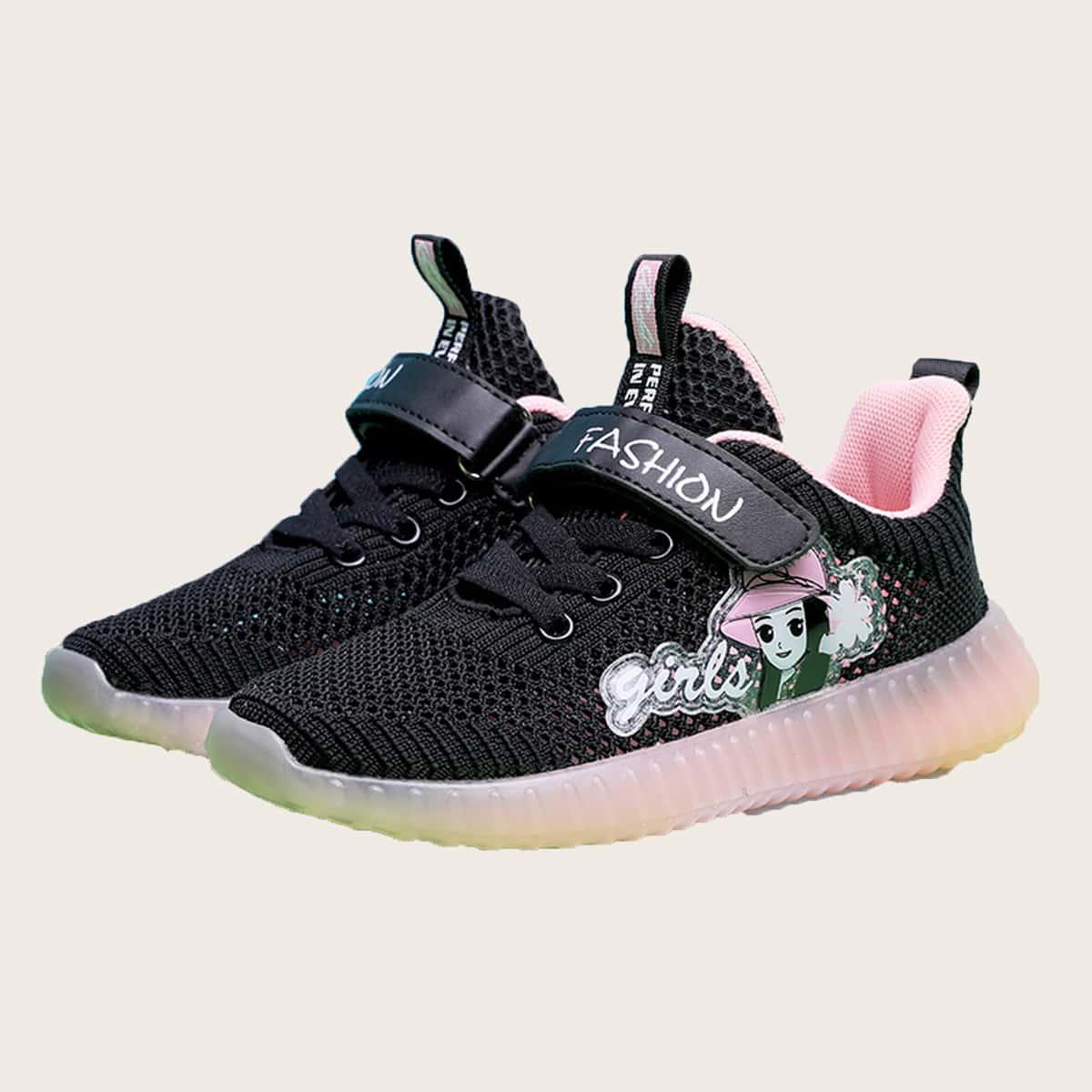 Трикотажные кроссовки для девочек от SHEIN