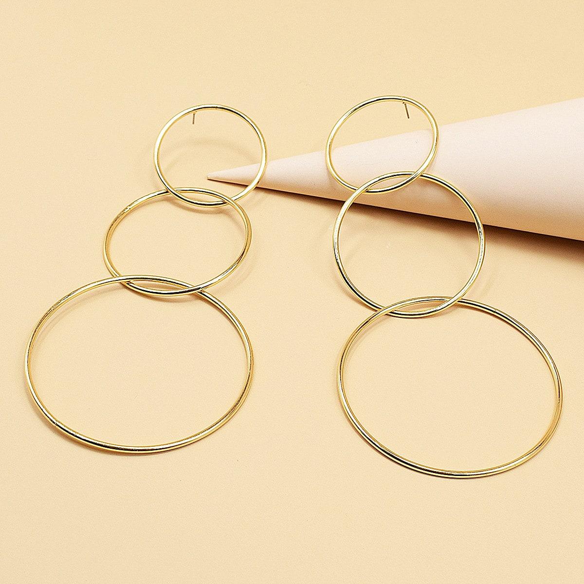 Круглые серьги-подвески фото