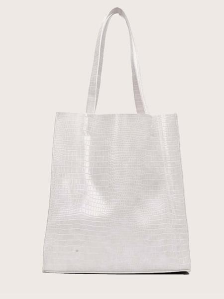 Lizard Embossed Tote Bag