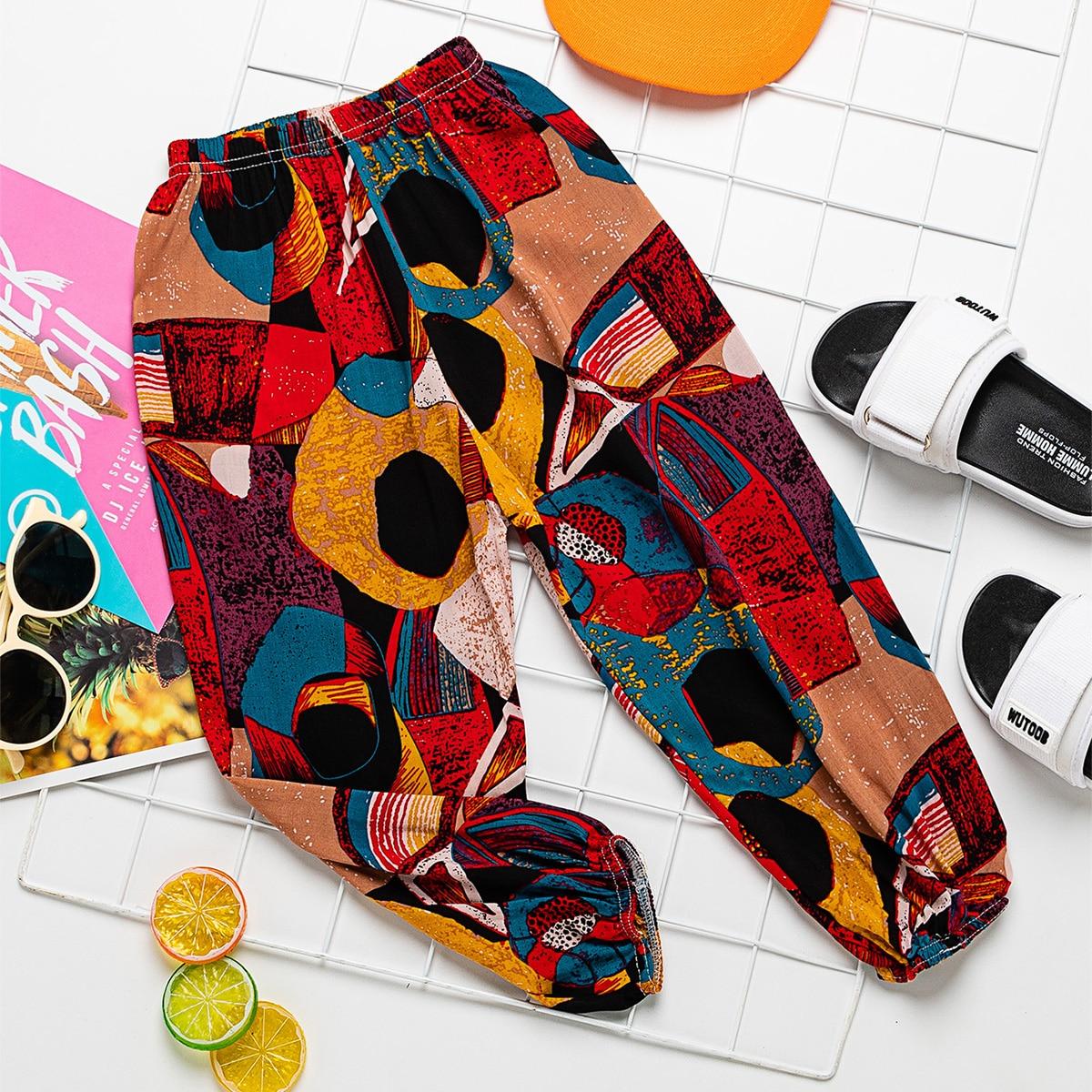 Контрастные брюки для девочек фото