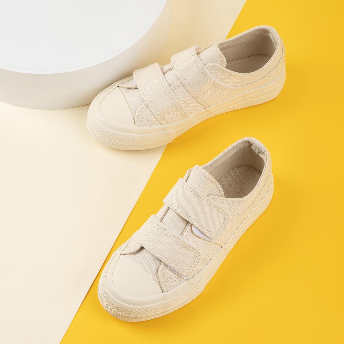 Холщовые туфли на липучке для девочек от SHEIN