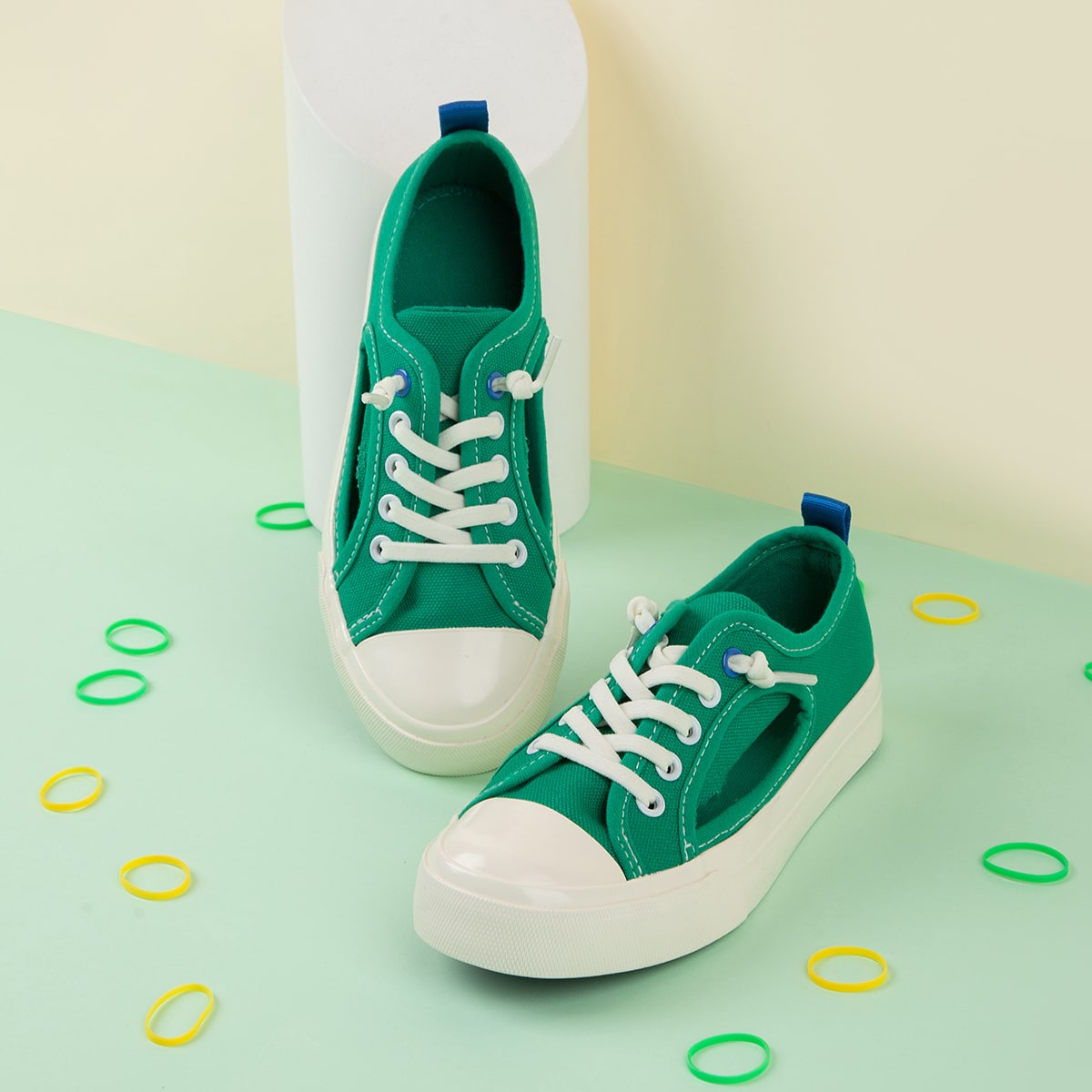 Холщовые туфли с разрезом для девочек от SHEIN