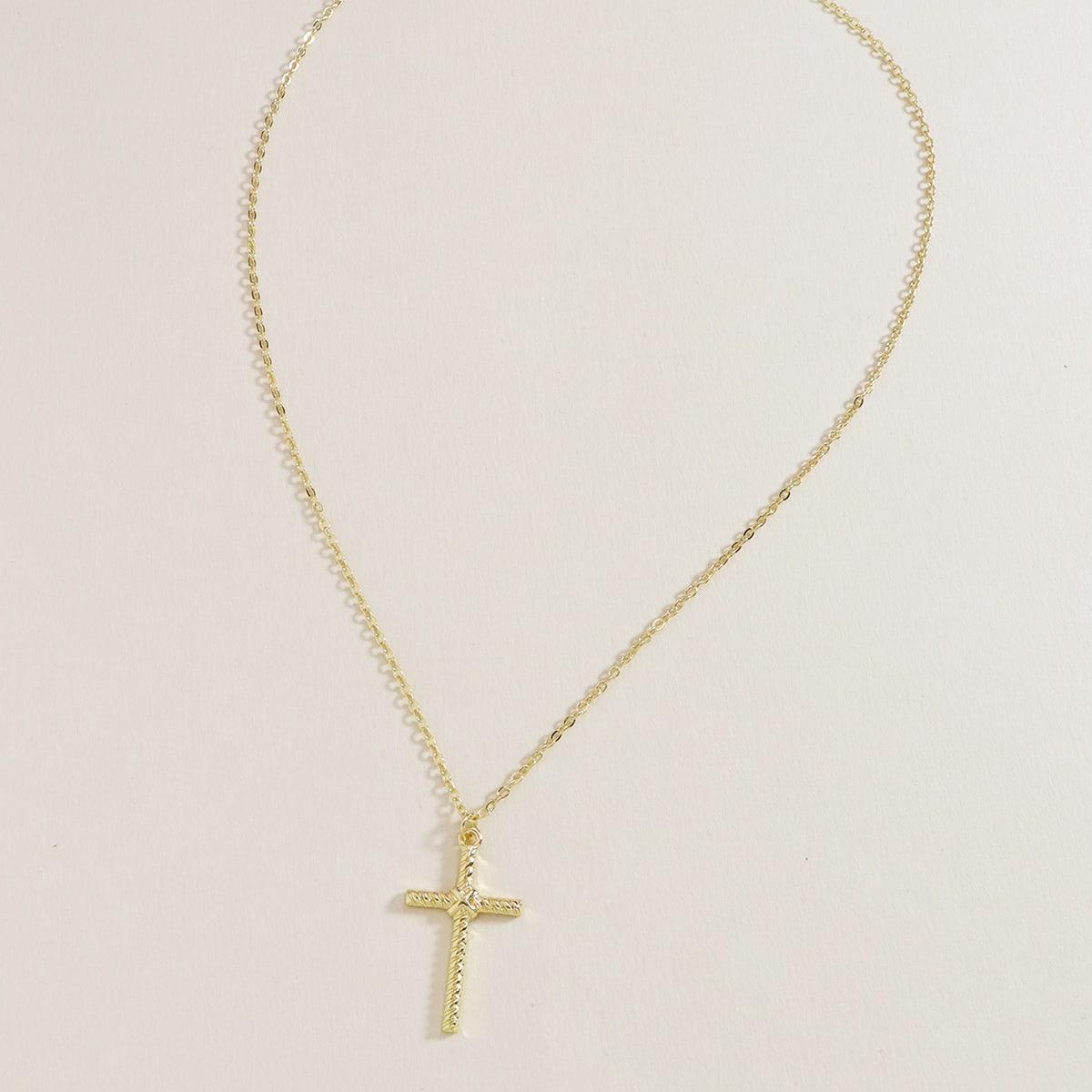Ожерелье с крестом фото