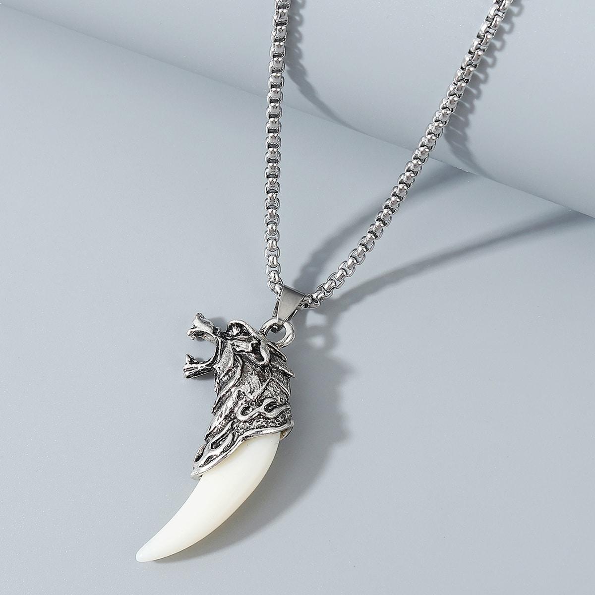 Мужское ожерелье с волком от SHEIN