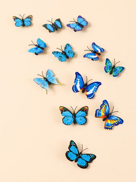 12pcs Butterfly Shaped Hair Clip