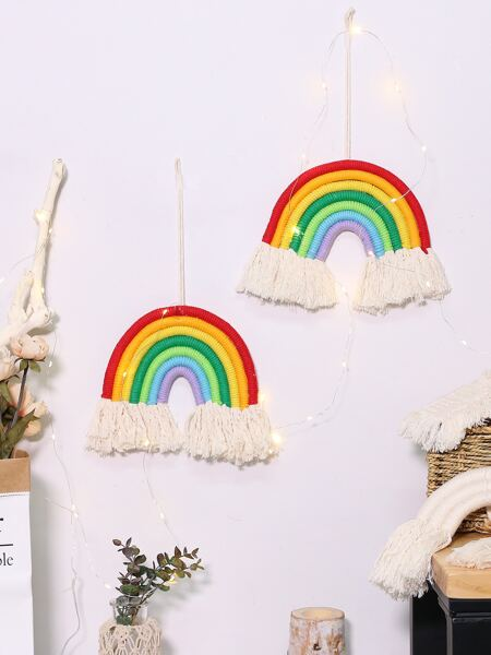 1pc Rainbow Tassel Wall Decor