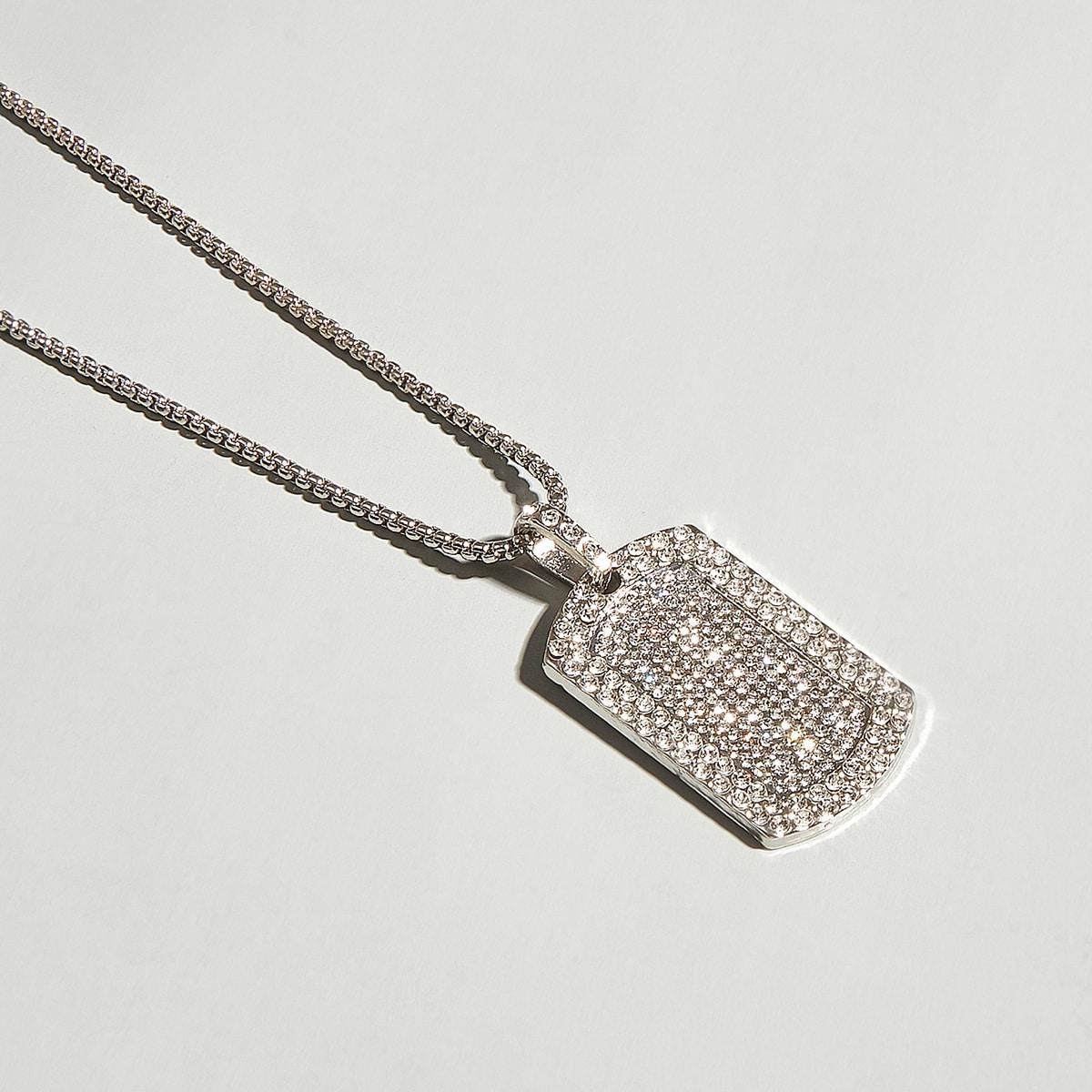 Мужское ожерелье со стразами от SHEIN