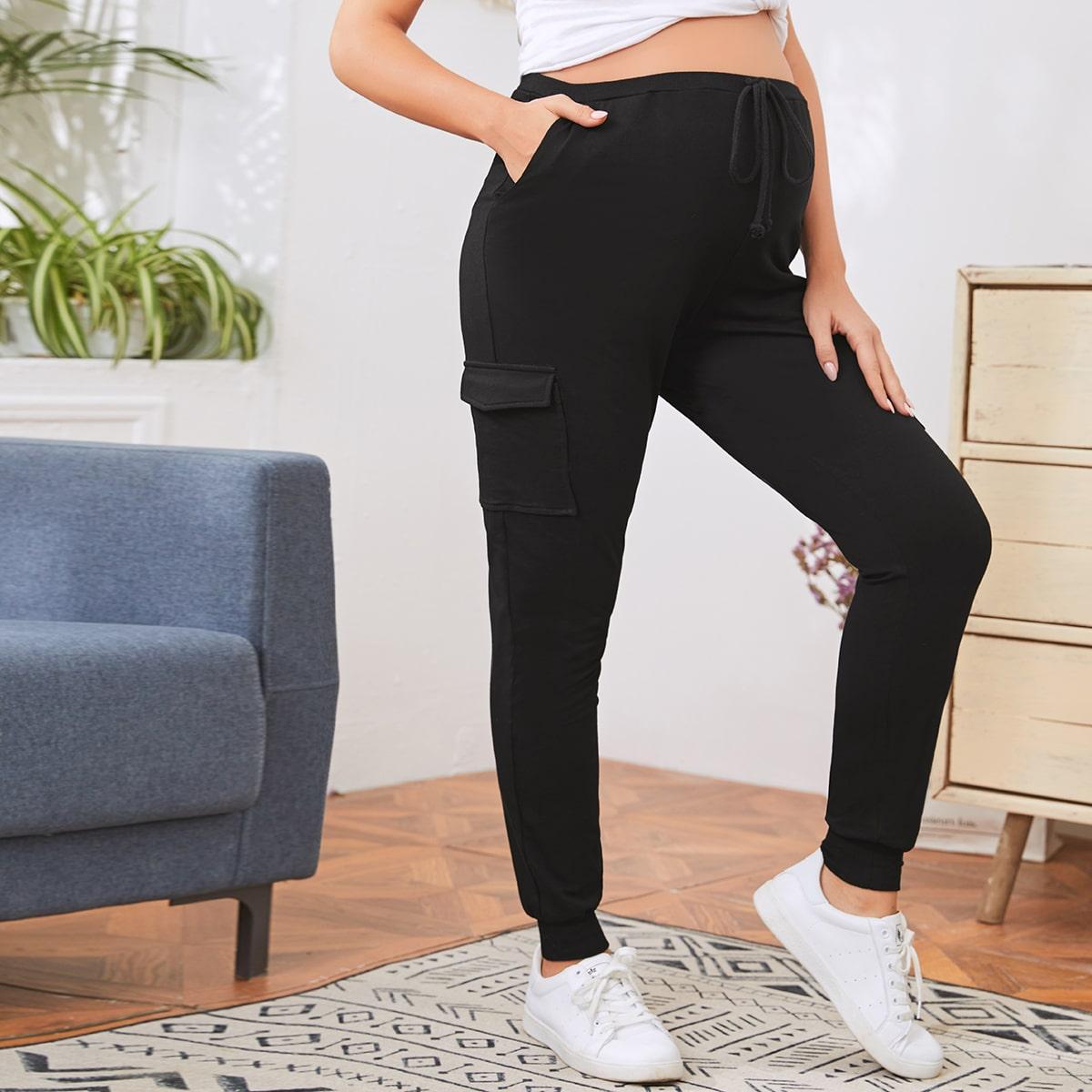 Спортивные брюки для беременных с карманом от SHEIN