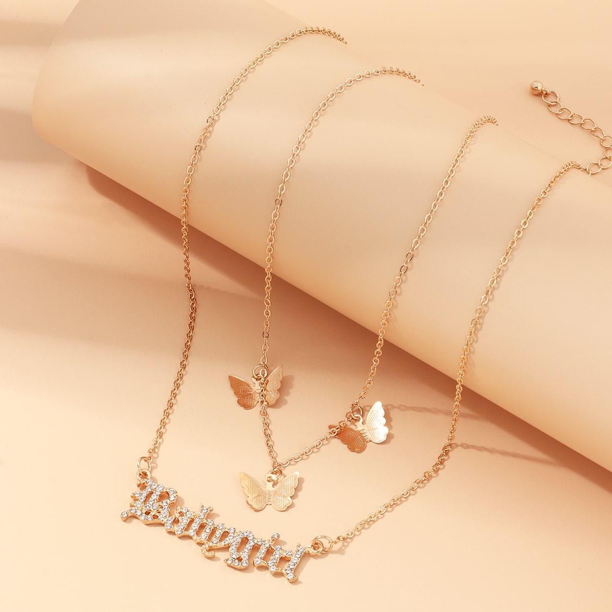2шт ожерелье с бабочками фото