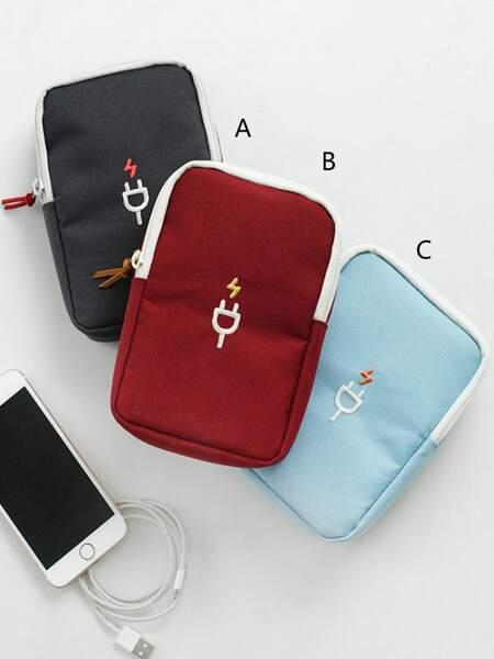 1pc Data Line Travel Storage Bag