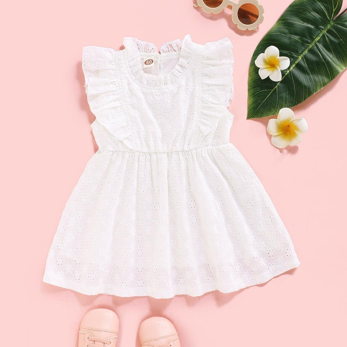 Платье с оборками для девочек от SHEIN
