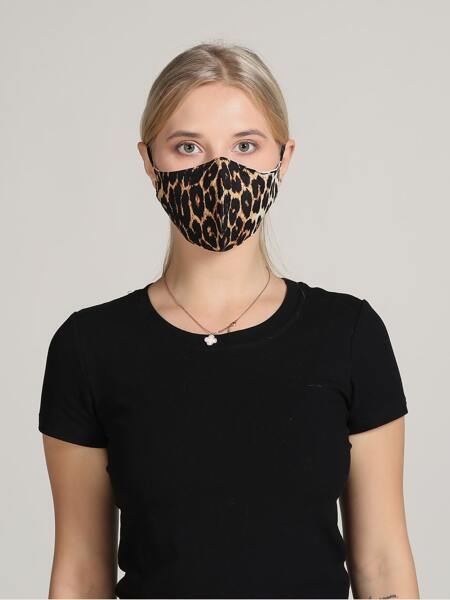Leopard Pattern Face Mask