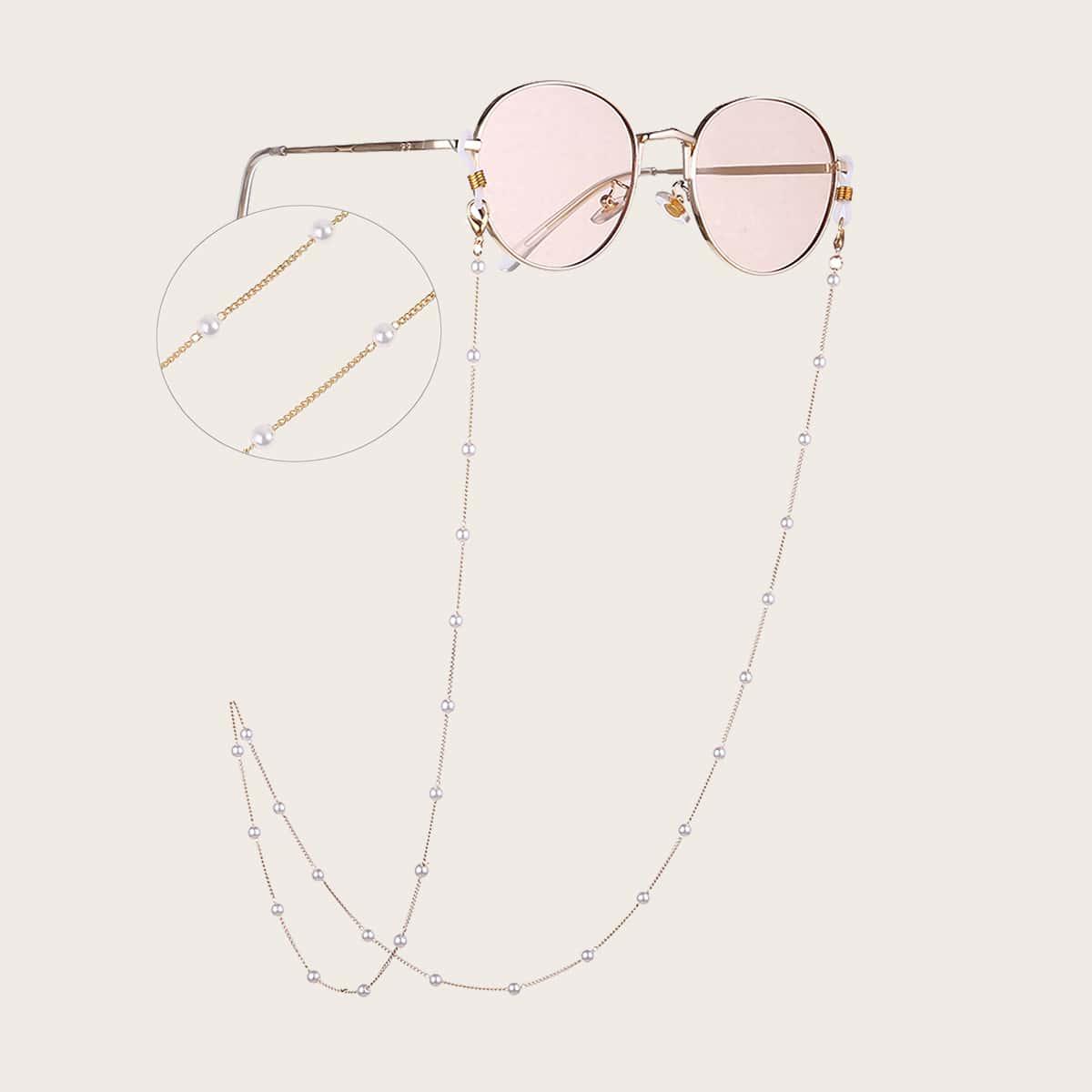 SHEIN / Brillekette mit Kunstperlen Dekor