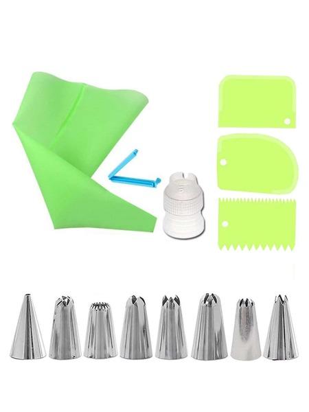14pcs Pastry Bag & Piping Nozzle Set