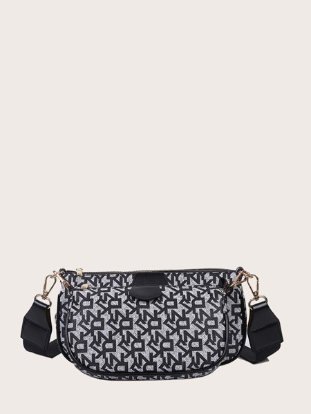 3pcs Geometric Pattern Bag Set