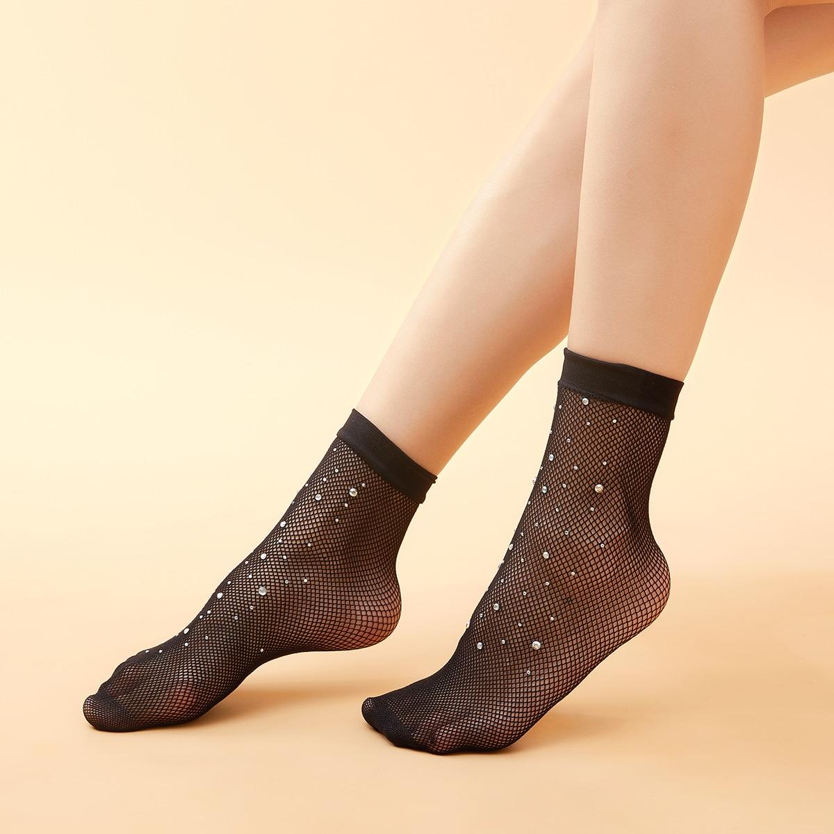 Полые носки со стразами фото