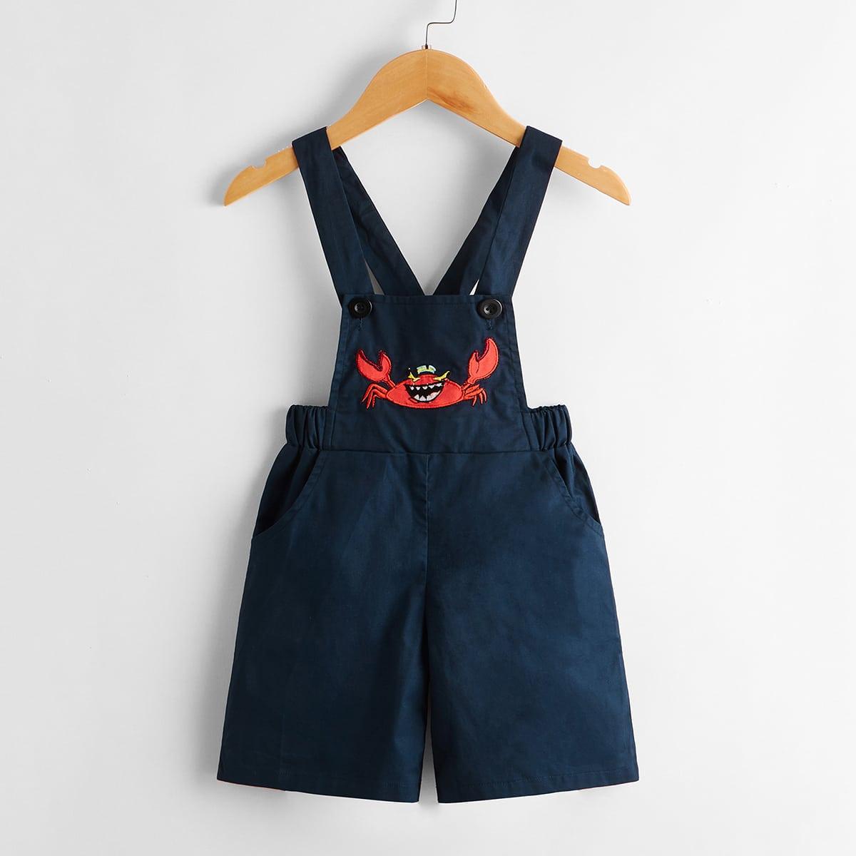 Комбинезон с вышивкой краба для мальчиков от SHEIN
