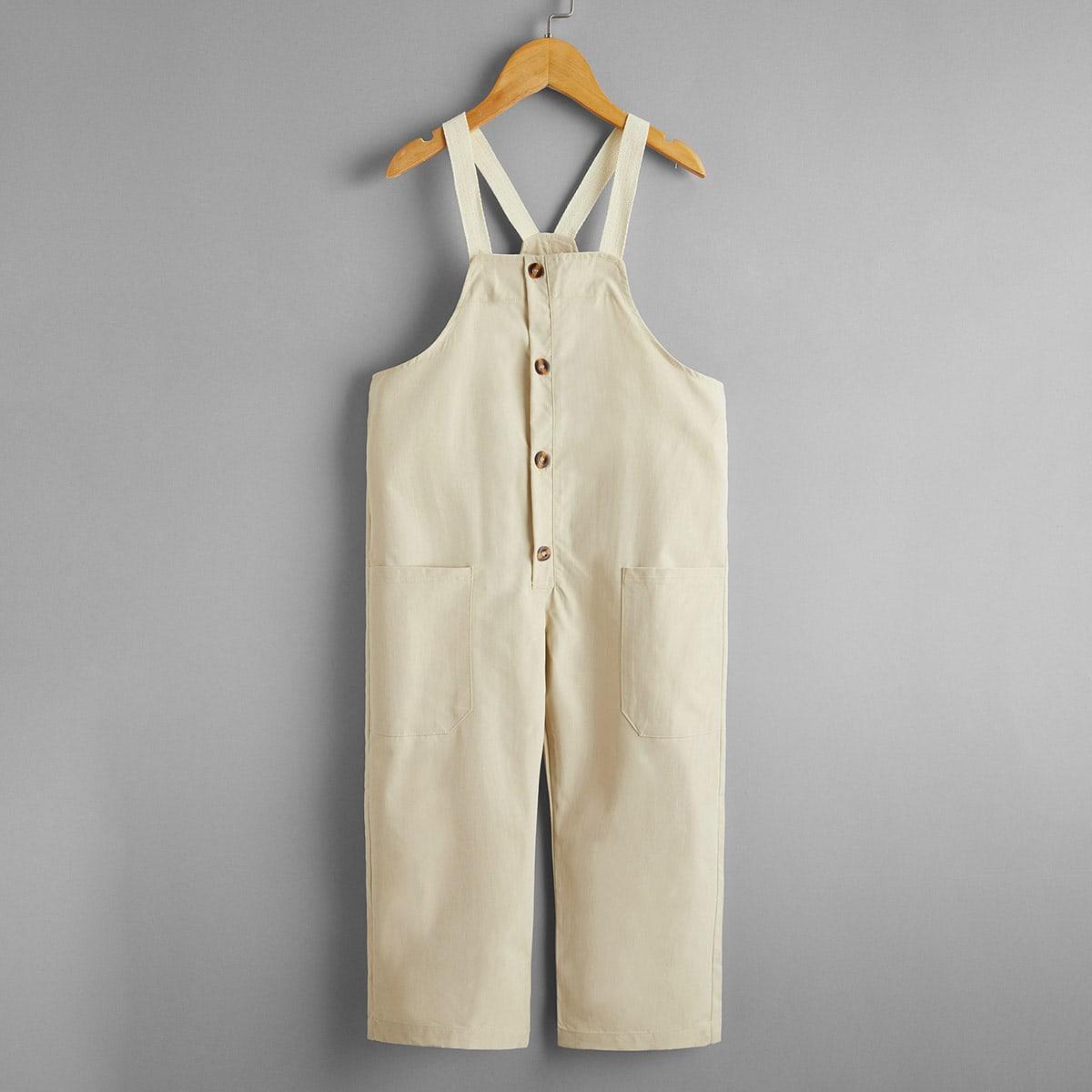 Комбинезон с пуговицами и карманами для мальчиков от SHEIN