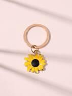 Sunflower Charm Key Chain