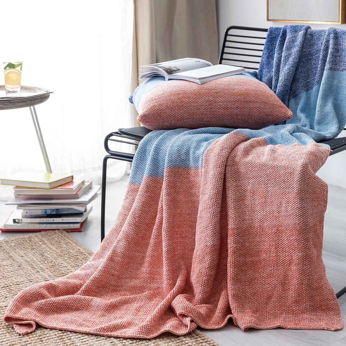 Color Block Pattern Blanket