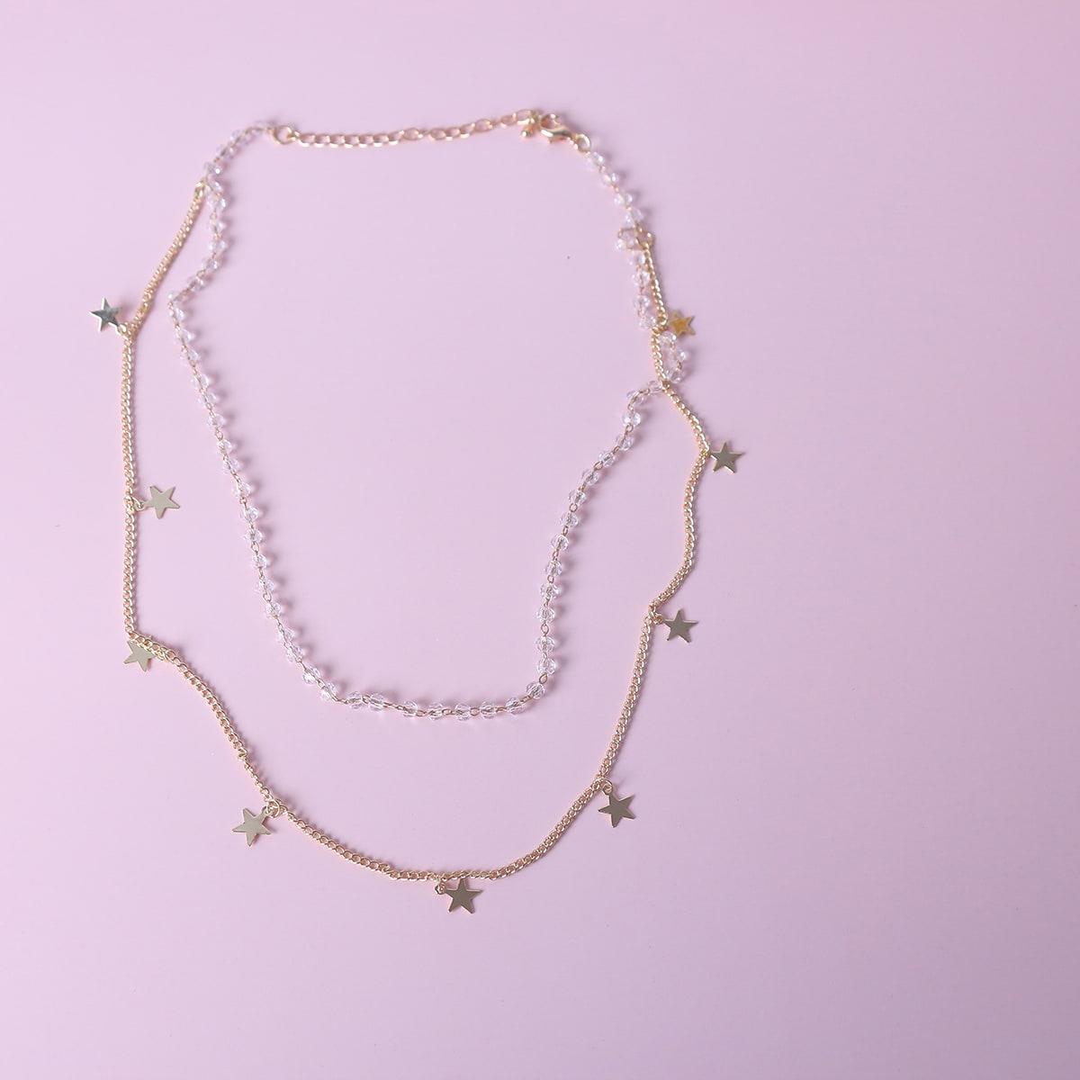 SHEIN / Mehrschichtige Halskette mit Stern Anhänger