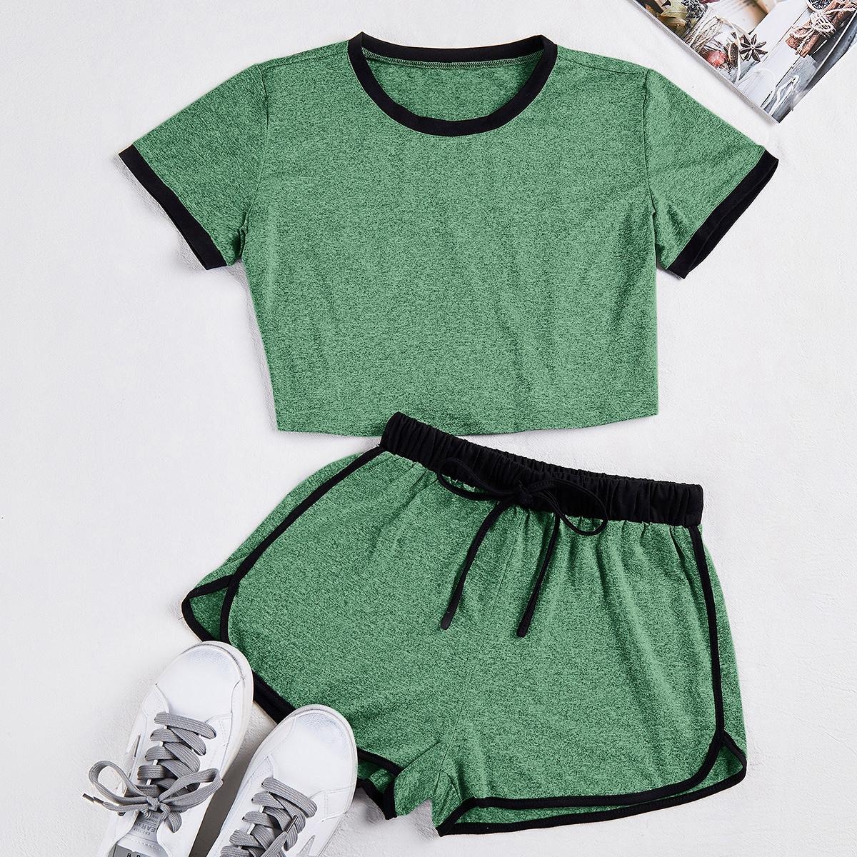 Зеленый на кулиске Спортивный Комплект фото