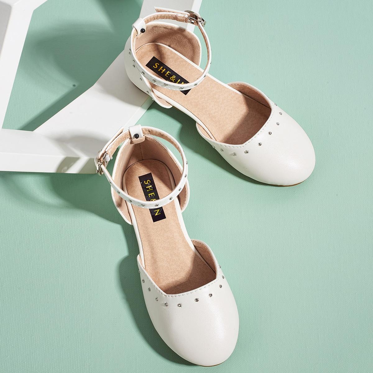 Круглые балетки для девочек от SHEIN