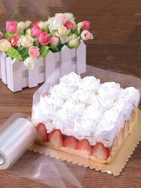 1roll Clear Cake Wrapper