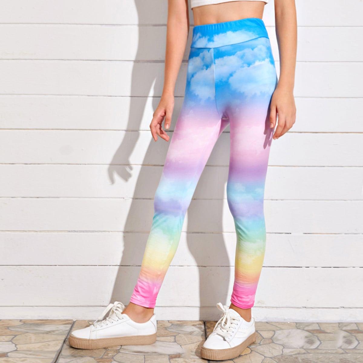 Разноцветные леггинсы для девочек фото