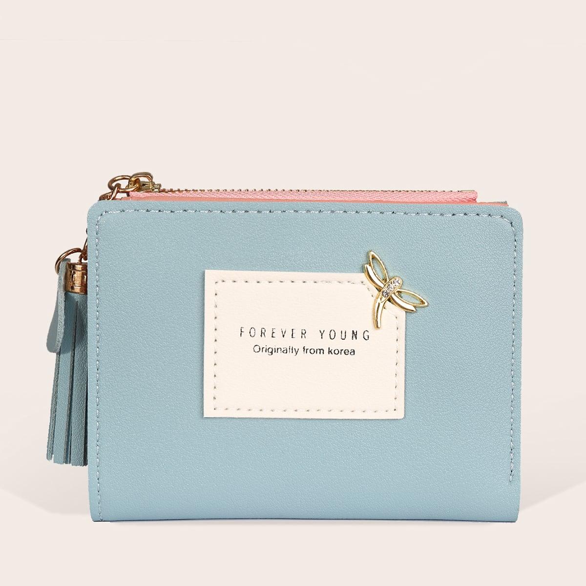 Контрастный кошелек с бахромой от SHEIN