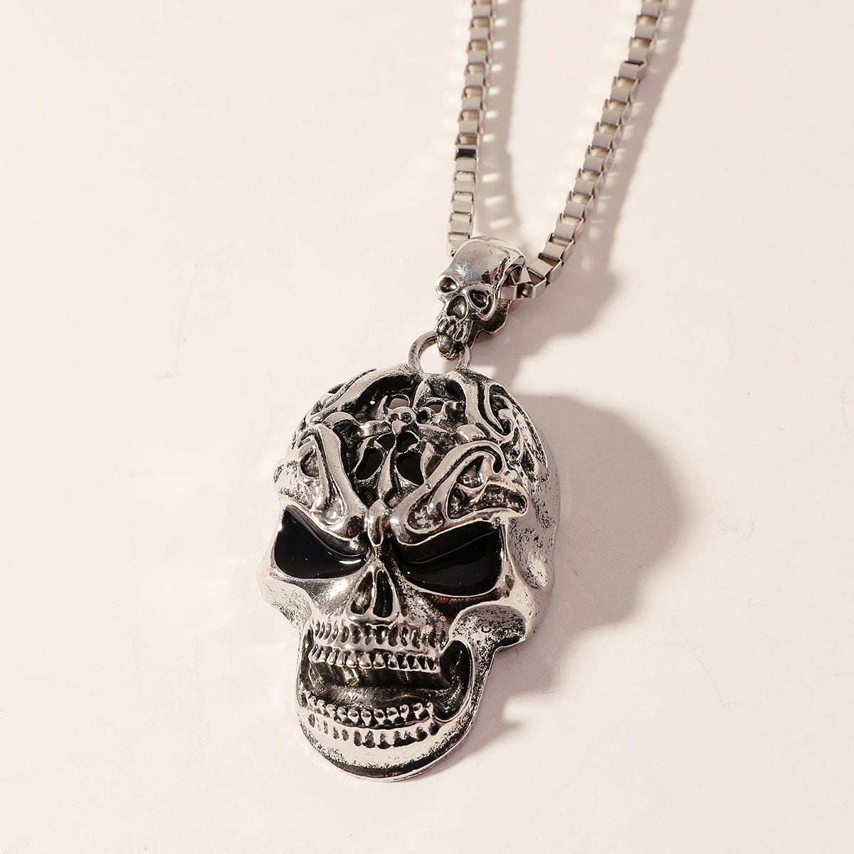 Мужское ожерелье с декором черепа от SHEIN