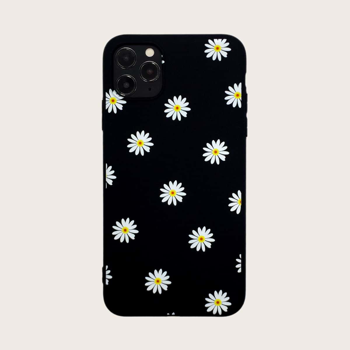 1шт чехол для iPhone с принтом цветка фото