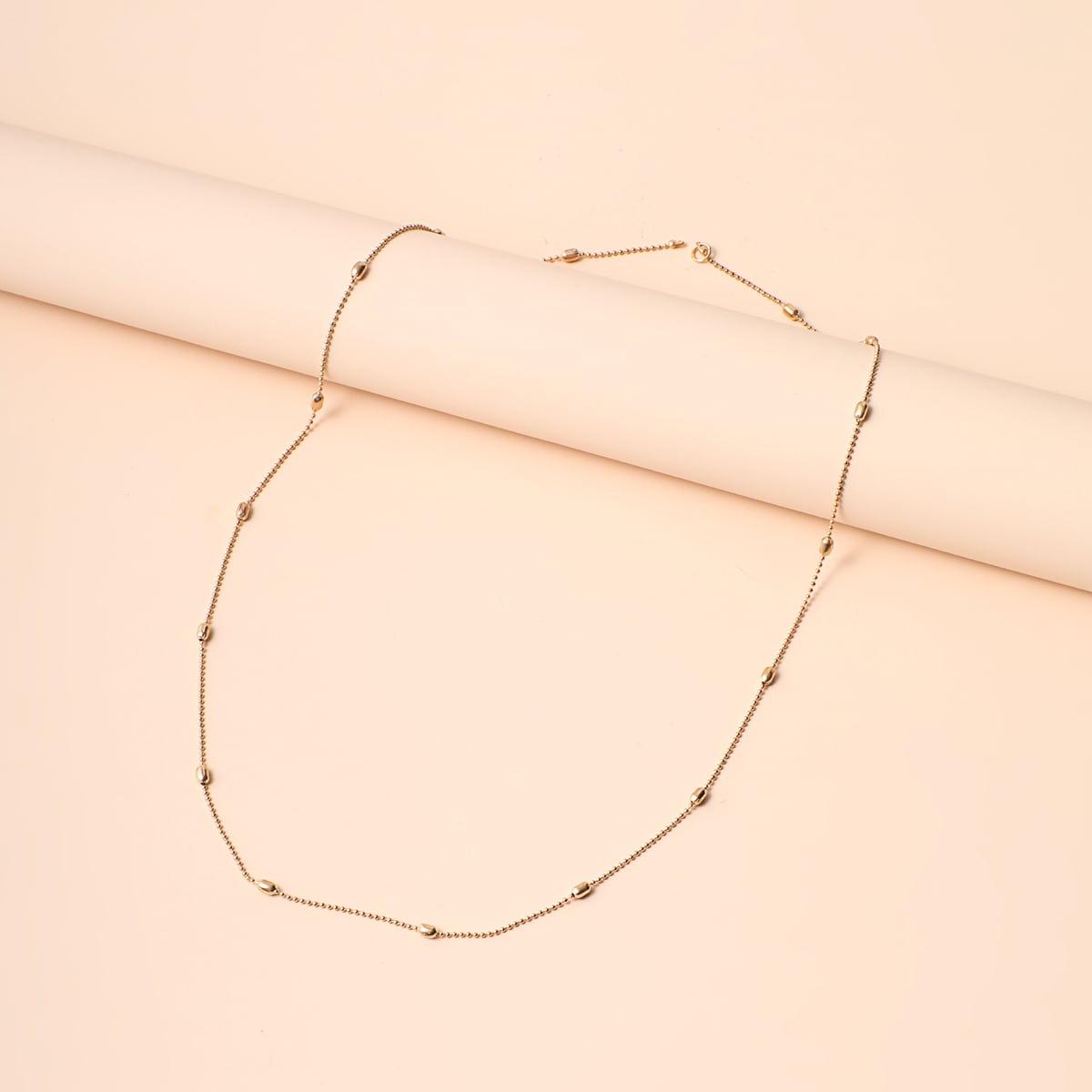 SHEIN / Halskette mit goldem Perlen Anhänger