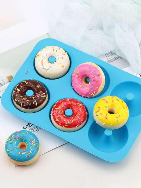 1pc Random Color Silicone Donut Mold