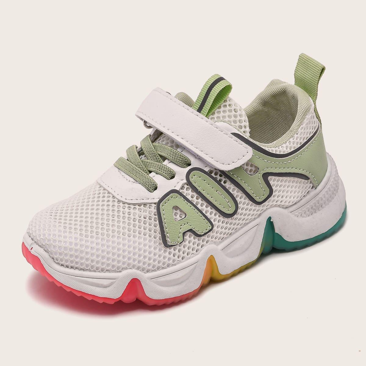 Нескользящие сетчатые кроссовки для девочек от SHEIN