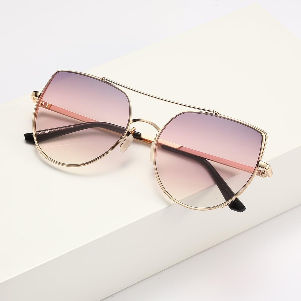 Солнечные очки в металлической оправе фото