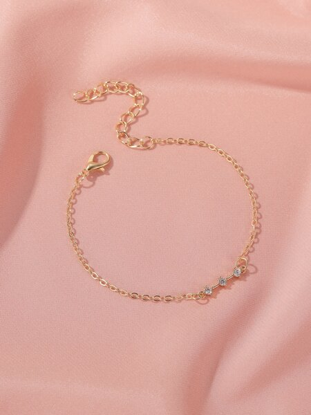 Rhinestone Decor Chain Bracelet