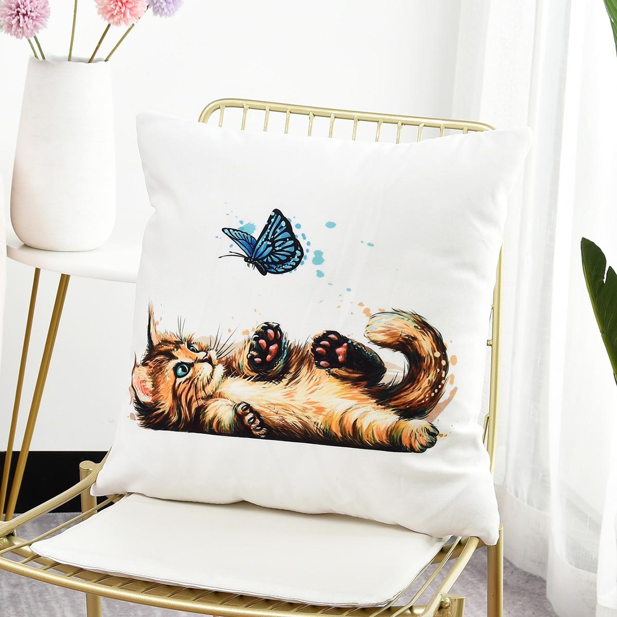 Чехол для подушки с принтом