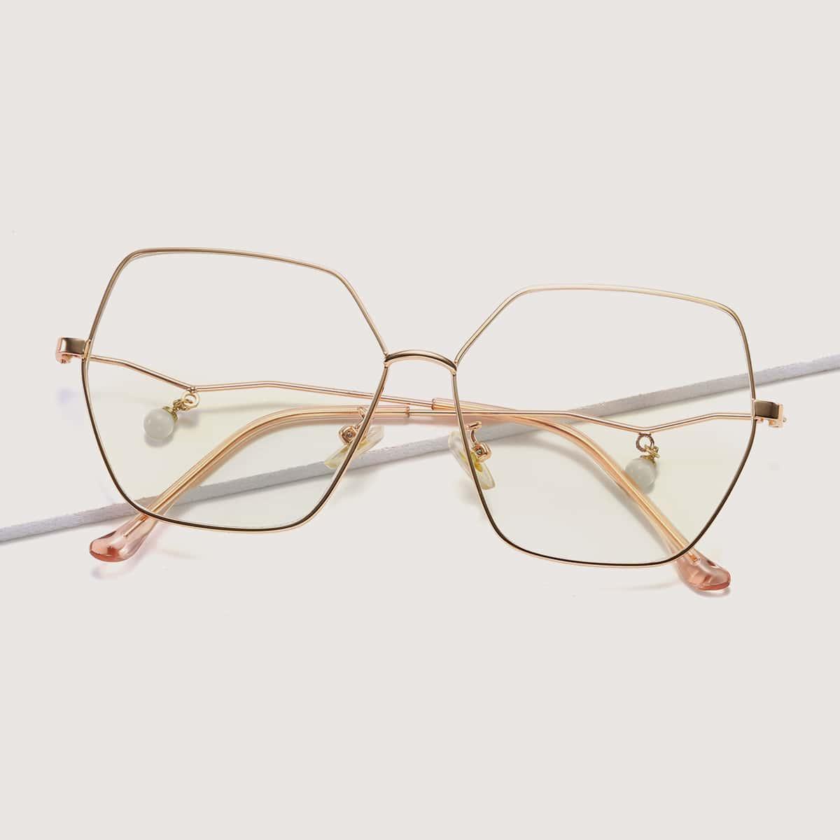 Очки с металлическим каркасом фото