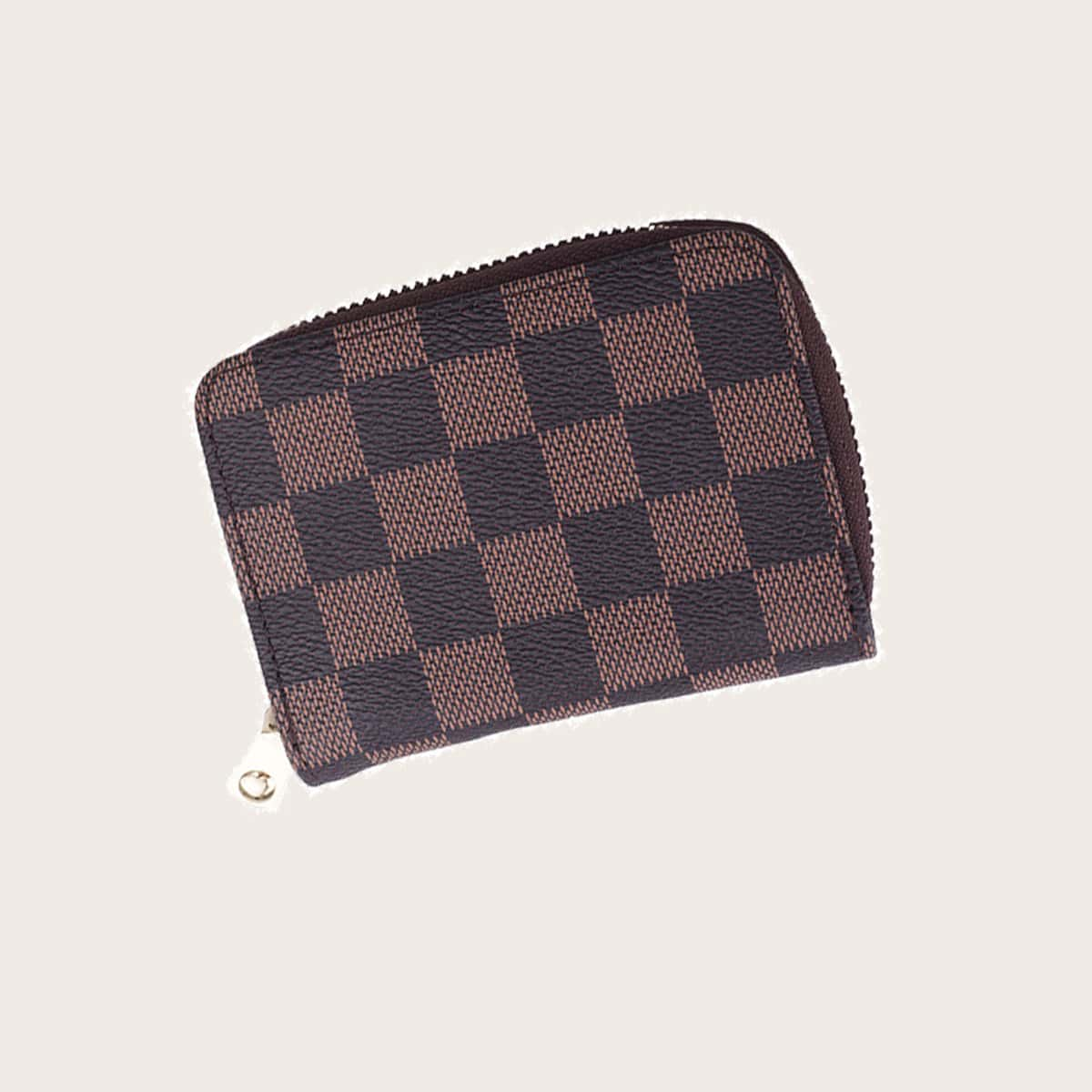 Men Plaid Zip Around Purse (smbag18200609157) photo