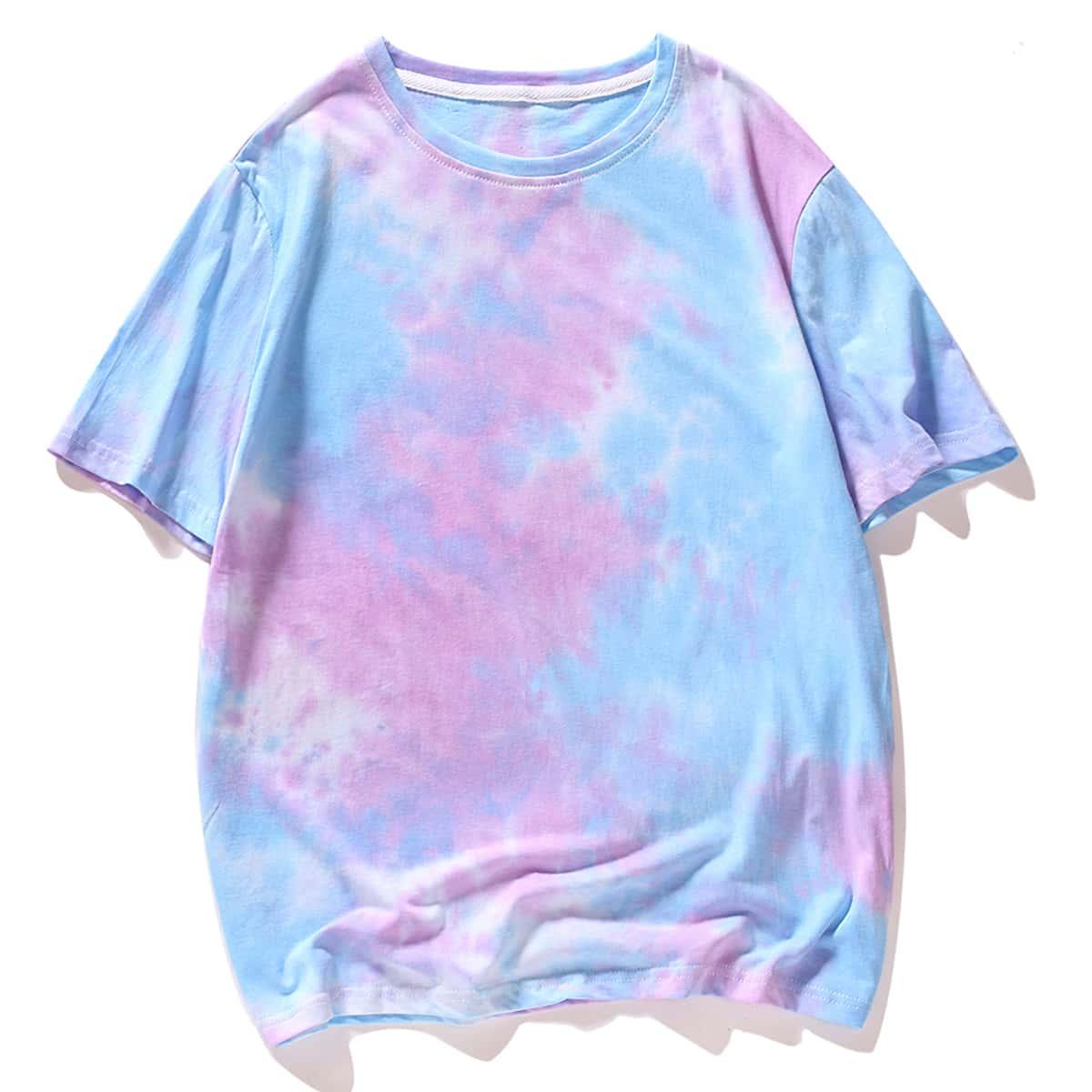 Многихцветный Галстуковый краситель Отпуск Мужские футболки фото