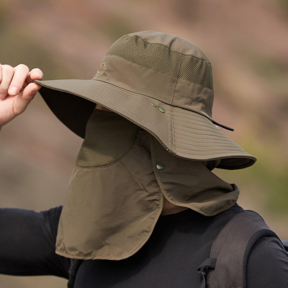 Мужская шляпа с покрытием лица от SHEIN