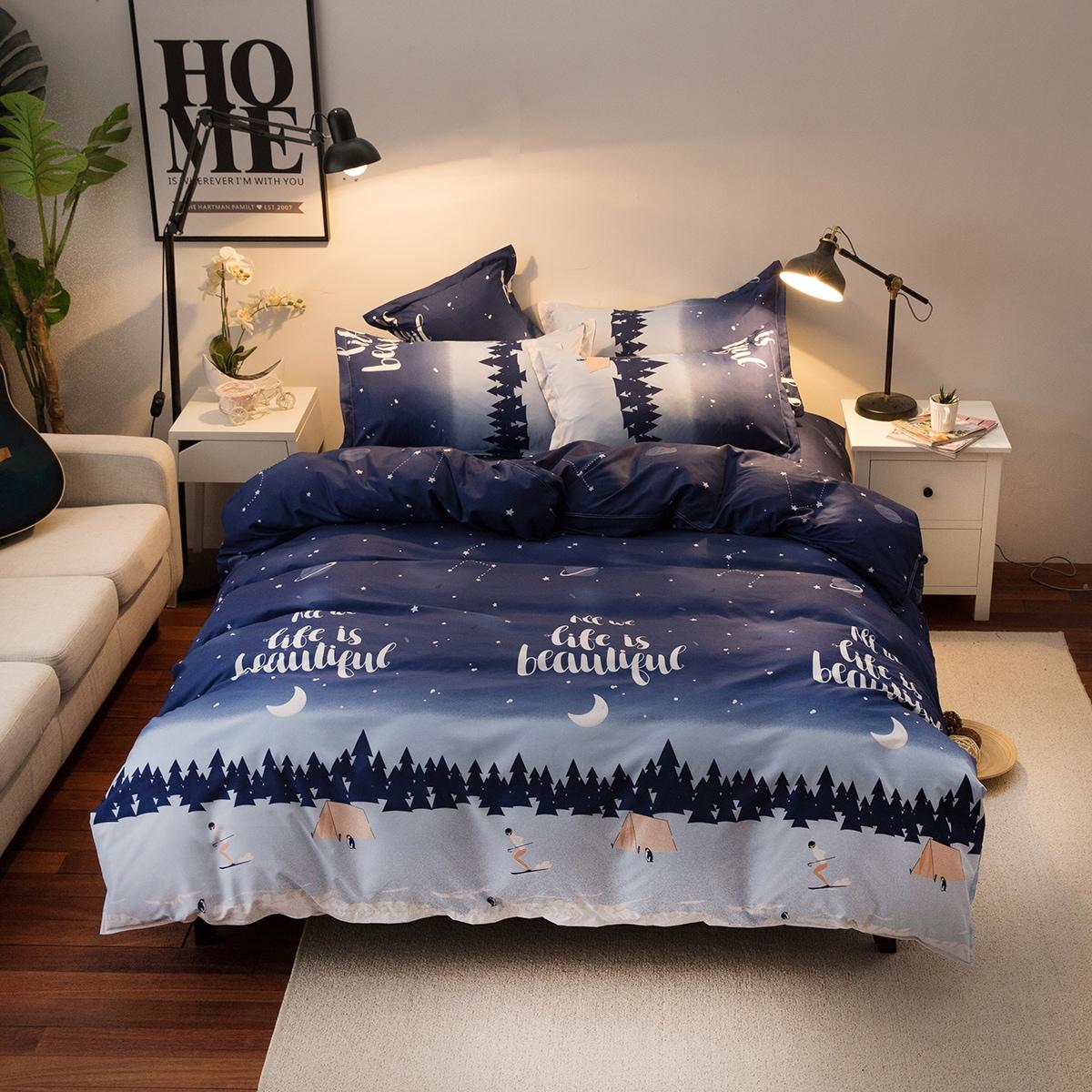 Комплект постельного белья с узором без наполнителя фото