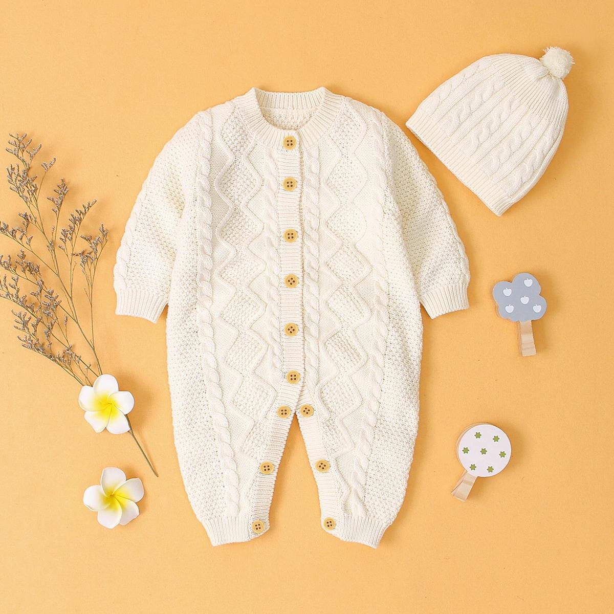 Белый Одноцветный Повседневный Боди для малышей фото