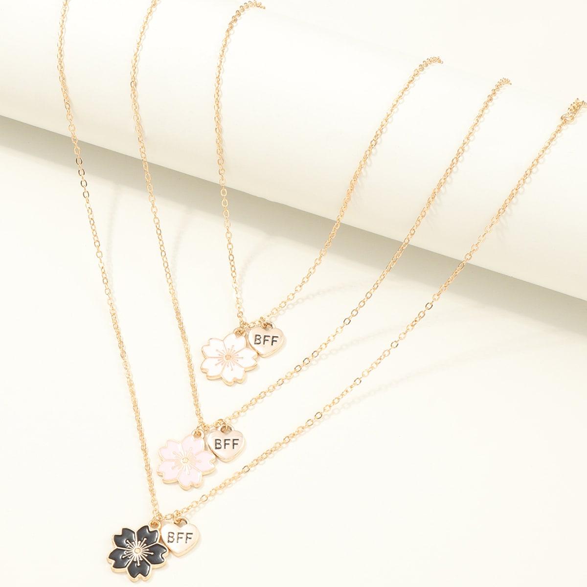 3шт ожерелье с цветком для девочек фото